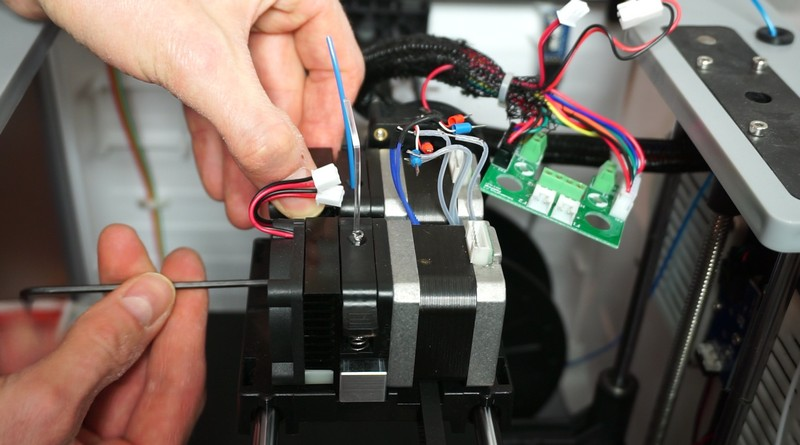 Remove extruder fans and stepper motors