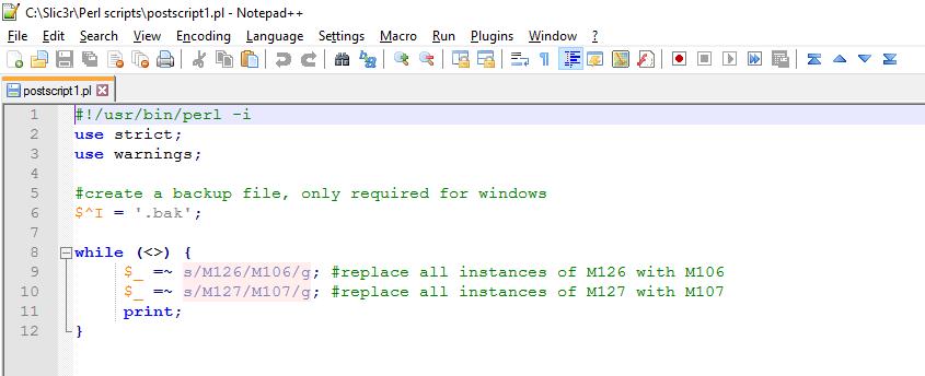 Perl post-processing script